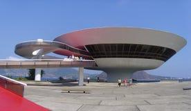 Mac Niteroi Rio de Janeiro Arkivbilder
