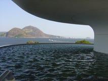 Mac Niteroi Rio de Janeiro Fotografering för Bildbyråer