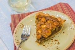 Mac Nut Rum Pie Stock Photo