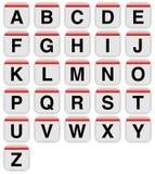 MAC- stijlbrieven a aan z Royalty-vrije Stock Afbeelding