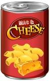 Mac y queso conservados en blanco Imágenes de archivo libres de regalías