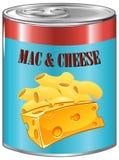 Mac y queso en la poder de aluminio Fotografía de archivo