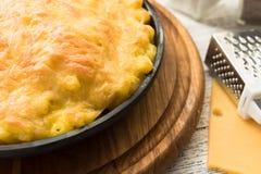 Mac y queso hechos en casa Imagen de archivo