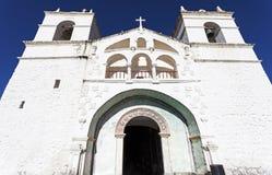 Maca-Kirche in Colca-Schlucht Lizenzfreies Stockbild
