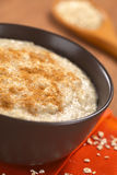 Maca-Oatmeal Porridge with Cinnamon Royalty Free Stock Images