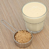 Maca Powder and Drink Royalty Free Stock Image