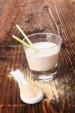 Maca powder and maca shake. Stock Image