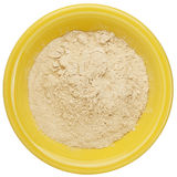 Maca root powder. (nutrition supplement - superfood from Andies) in a small ceramic bowl, clipping path Stock Photography