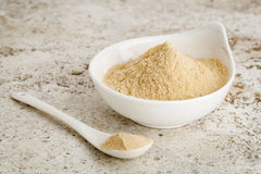 Maca root powder stock photo