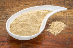 Maca root powder Royalty Free Stock Photo