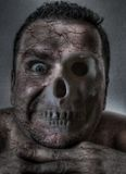 Macabre face Stock Images
