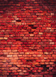 Macabre red brick wall texture Royalty Free Stock Image