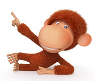 Macaco alegre, vermelho Imagem de Stock