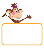 Macaco. Bandeira do animal do bebê Fotos de Stock