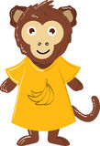 Macaco bonito do vetor foto de stock royalty free