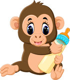 Macaco bonito dos desenhos animados Fotos de Stock