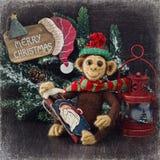Macaco caseiro do brinquedo Imagens de Stock Royalty Free