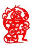 Macaco chinês do papel-corte foto de stock