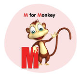 Macaco com alfabeto Foto de Stock Royalty Free