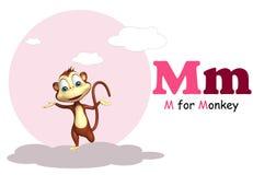 Macaco com alfabeto Fotografia de Stock Royalty Free