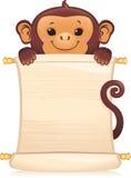 Macaco com rolo Imagem de Stock