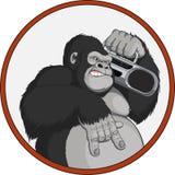 Macaco com um gravador Fotos de Stock