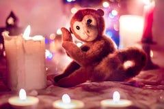 Macaco do brinquedo de Felted Imagens de Stock Royalty Free