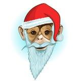 Macaco do Natal Imagens de Stock Royalty Free