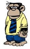 Macaco do negócio dos desenhos animados Fotografia de Stock Royalty Free