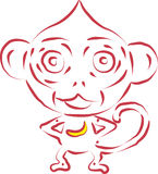 Macaco do vetor Foto de Stock Royalty Free