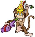Macaco e presente ilustração stock