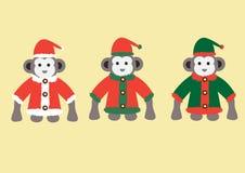 Macaco em trajes do Natal Fotos de Stock Royalty Free