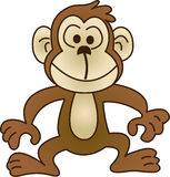 Macaco engraçado - ilustração do vetor Foto de Stock