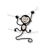 Macaco engraçado para seu projeto Fotos de Stock Royalty Free