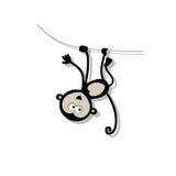 Macaco engraçado para seu projeto Imagem de Stock Royalty Free