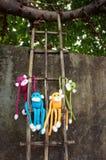 Macaco feito malha, símbolo 2016, ano do macaco Fotos de Stock