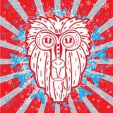 Macaco grande: sinal de 2016 na maneira não tradicional Ilustração Royalty Free