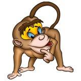 Macaco inteligente ilustração do vetor