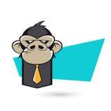 Macaco irritado do negócio Imagens de Stock Royalty Free