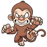 Macaco irritado dos desenhos animados Imagem de Stock