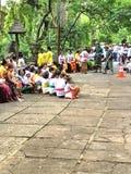 Macaco sagrado Forest Sanctuary, Padangtegal, Ubud, Bali Indonésia Foto de Stock