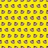 Macaco - teste padrão 58 do emoji ilustração do vetor