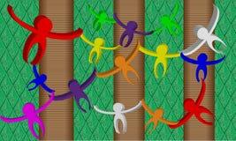 Macacos abstratos na selva Imagem de Stock