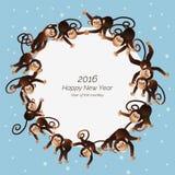 Macacos em um círculo Fotos de Stock Royalty Free
