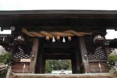 macacos japoneses selvagens da preparação em Beppu, Oita Foto de Stock