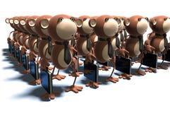 Macacos no trabalho Foto de Stock Royalty Free