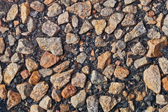 Macadam. Background made of a lot of stones Stock Photos