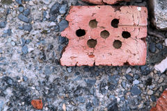 Macadam brick. Close up texture with stones Royalty Free Stock Photo