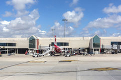 Macadam de départ d'aéroport en Palma de Mallorca Photo libre de droits