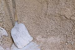 macadam Materialen voor bouw stock foto